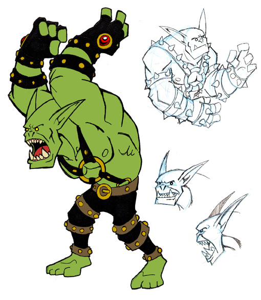 Drawn orc cartoon Chief by Half DeviantArt on
