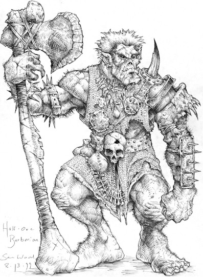 Drawn orc dnd Dungeons+and+Dragons+Orc Sun With the God: