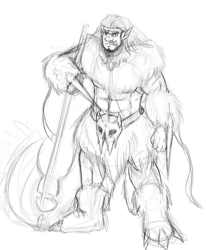 Drawn orc dnd By SamDeSamD DnD Sketch Barbarian