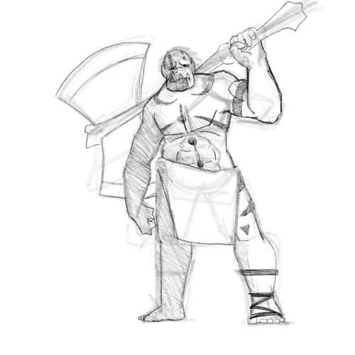 Drawn orc dnd #dnd Art a half barbarian!