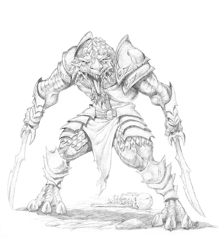 Drawn orc dnd By orc 77 Dragonborn Ghurkhan