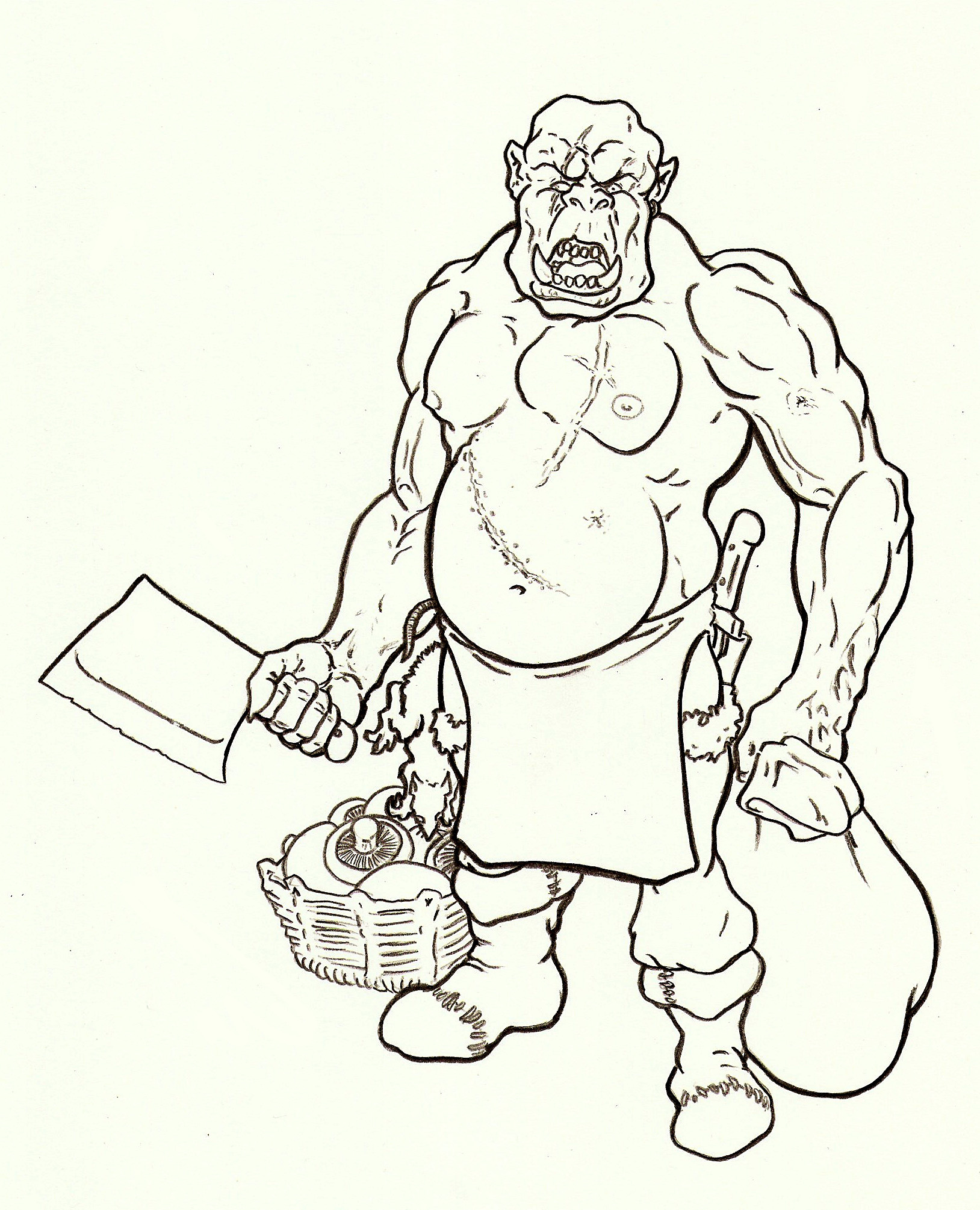 Drawn orc dnd Orc Cook Torno Rob Test