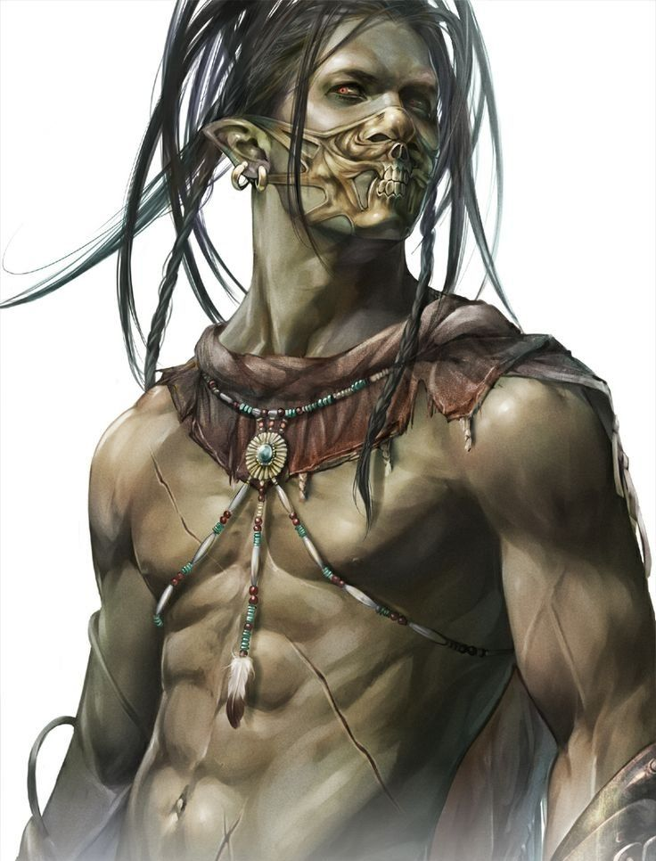 Drawn orc dnd Images Half Half more on