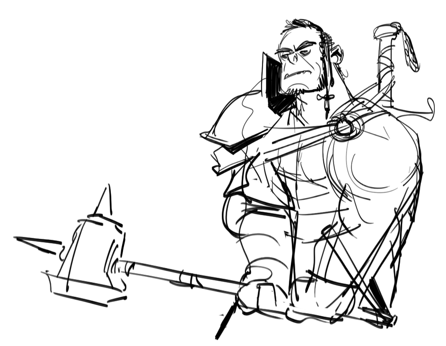 Drawn orc dnd It barely this Orc playing