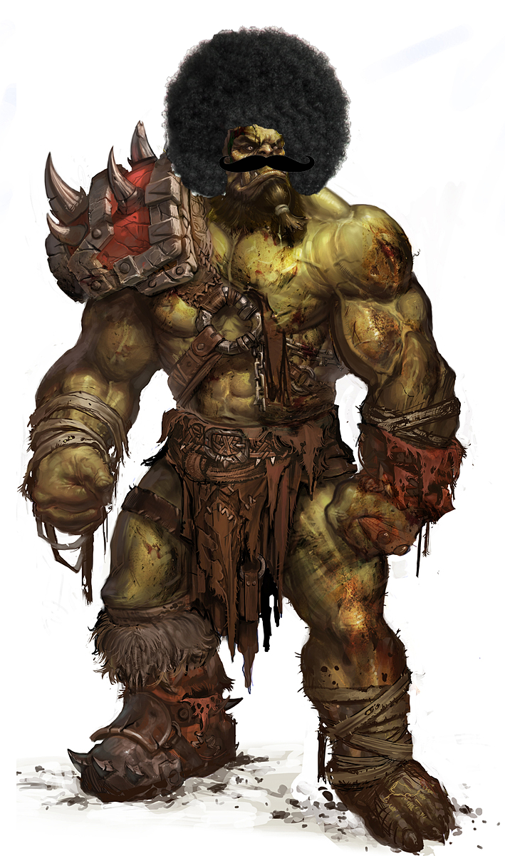 Drawn orc dnd Orc Fro Imgur The Fro
