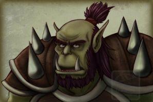 Drawn orc green By warrior 77Shaya77 Orc DeviantArt