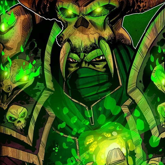 Drawn orc green Viewer this Warlock on Orc