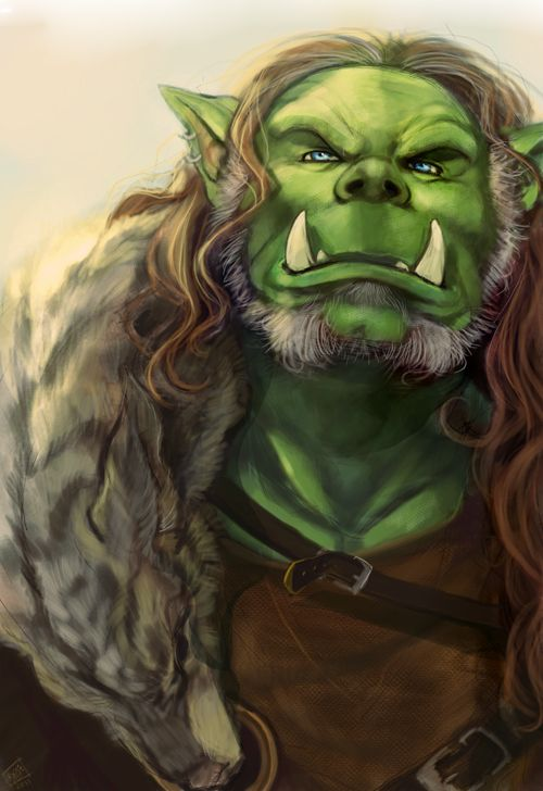 Drawn orc green And klans and on on