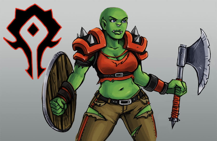 Drawn orc green By by Orc Lady DeviantArt
