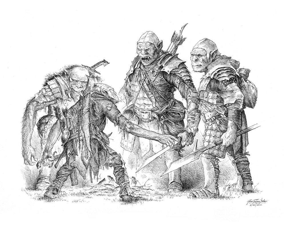 Drawn orc grey TurnerMohan debate DeviantArt Orcs by