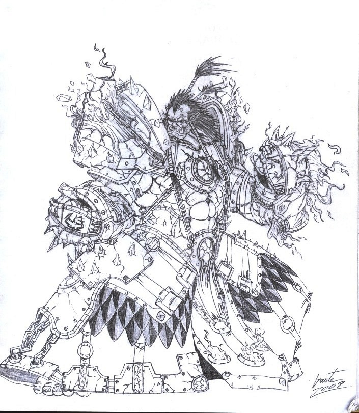 Drawn orc grey Greyall Shaman DeviantArt Orc by