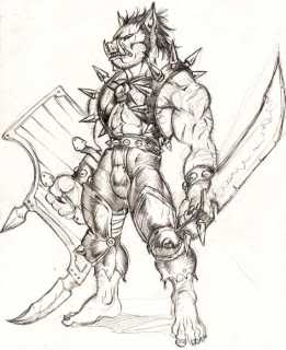 Drawn orc grey People called outskirts raised of