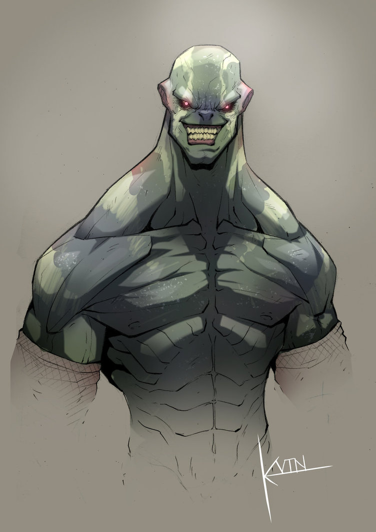 Drawn orc grey By Grey on by The
