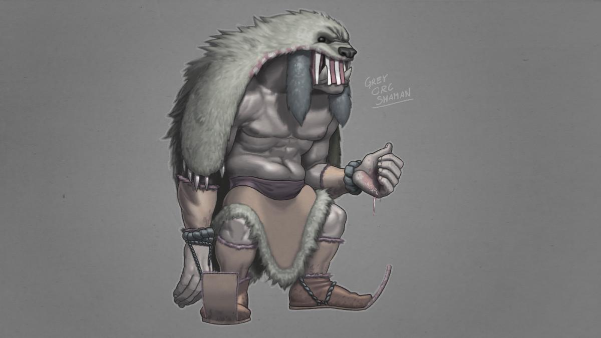 Drawn orc grey Stephen Orc Grey Orc Grey