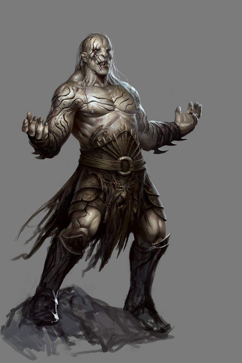 Drawn orc grey Chronicles Pale by  Wiki