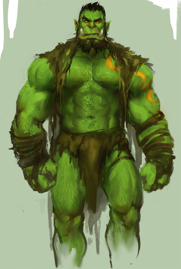 Drawn orc muscular Deviantart yy6242 orc on images