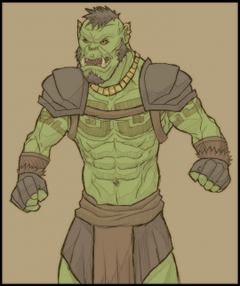 Drawn orc muscular Clothing simple Orcs body Wiki