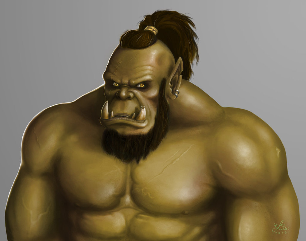 Drawn orc muscular By dude  Carr Libbie