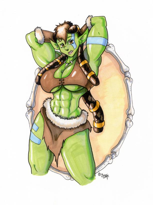 Drawn orc muscular Wolfgangcake by orc girl DeviantArt