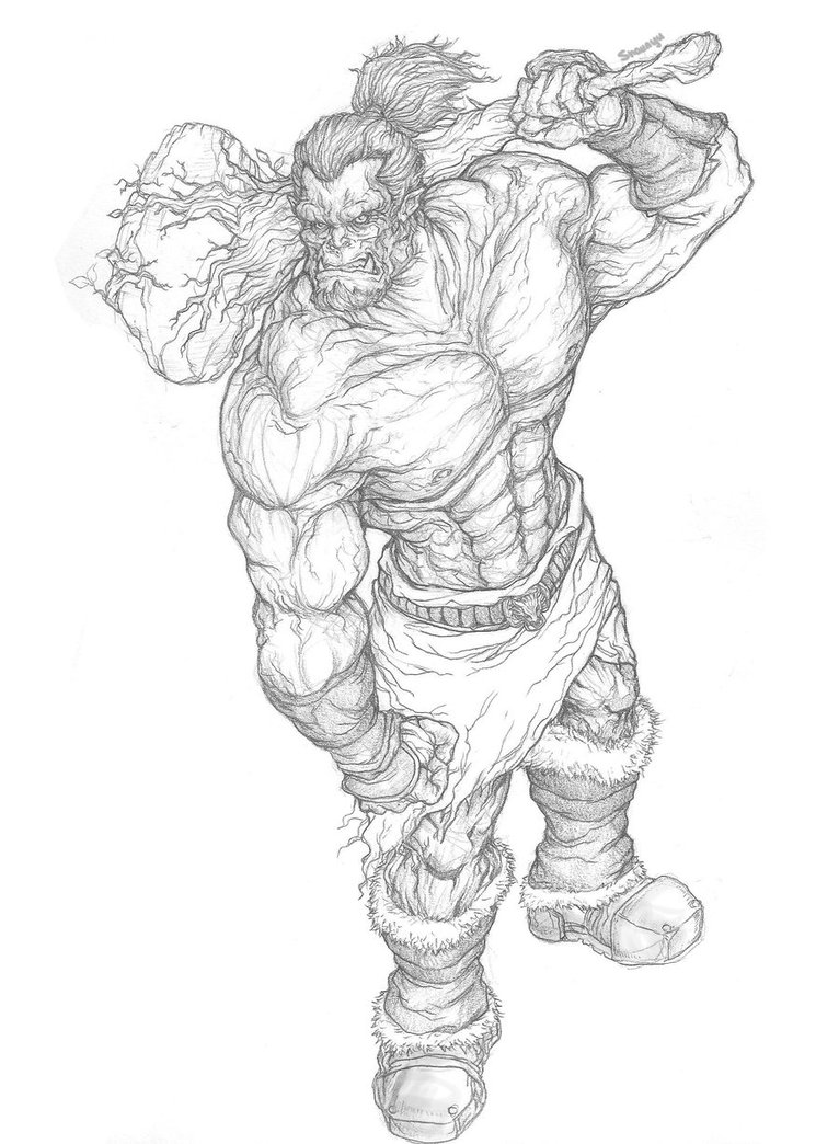 Drawn orc muscular Orc koiifish92 Orc koiifish92 by