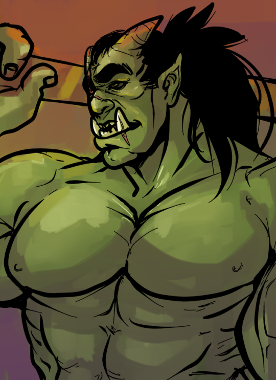 Drawn orc muscular Benzy by orc doodle DeviantArt