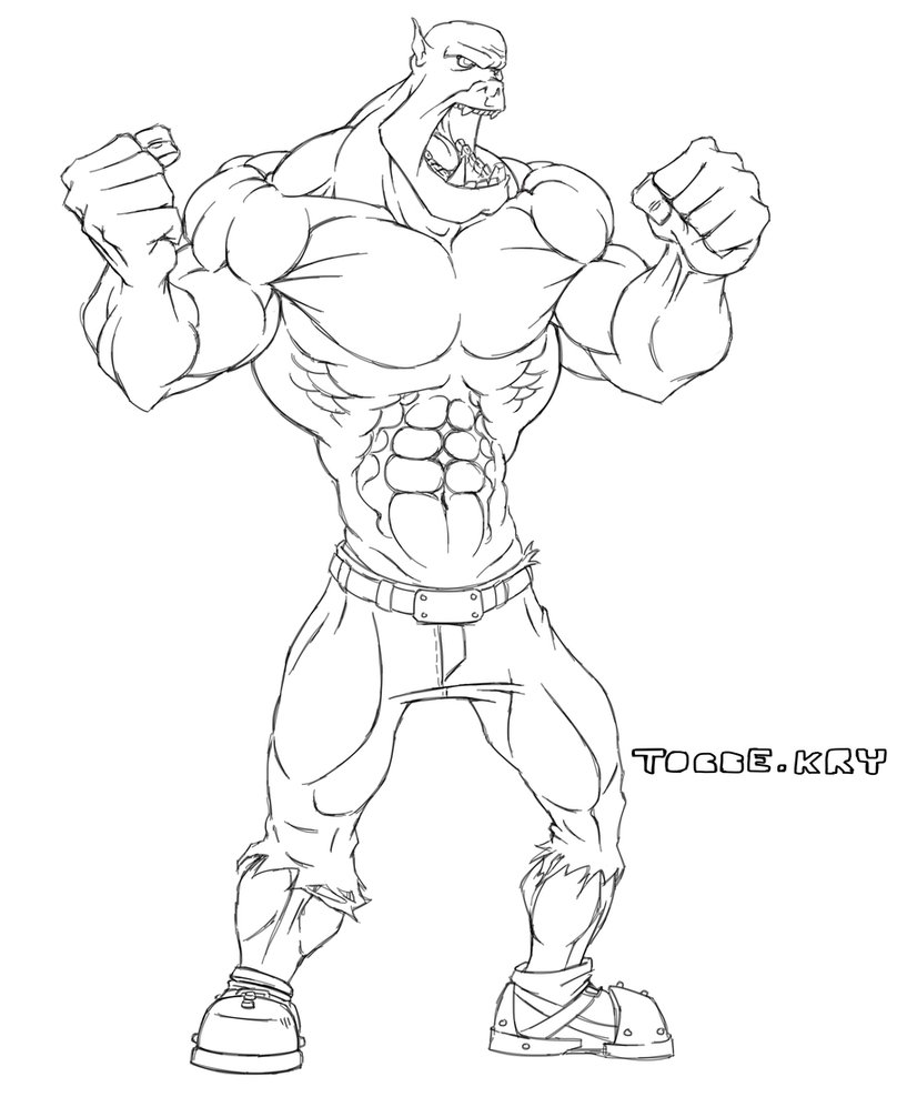 Drawn orc muscular By sketch Orc Orc TobbeKre