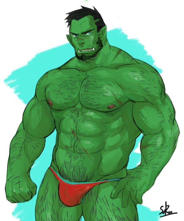 Drawn orc muscular Twitter: on  http://t