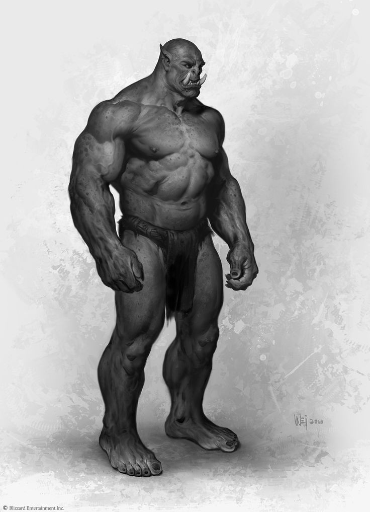 Drawn orc muscular And Pin Find on images