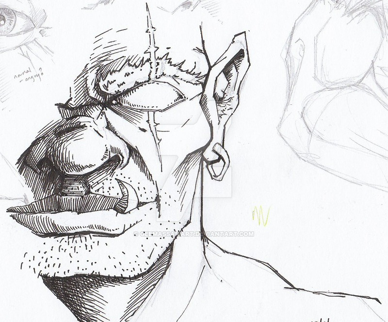 Drawn orc sketch GeeMassamArt by Orc sketch by