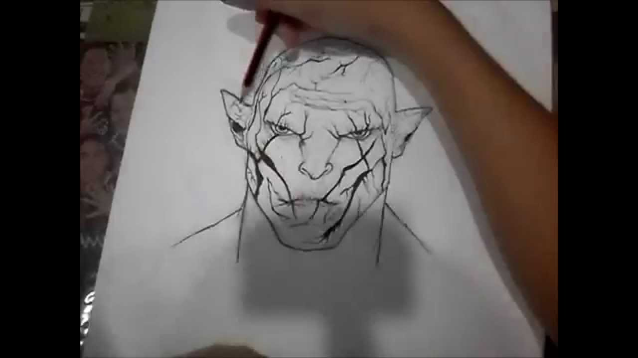 Drawn orc sketch YouTube pale  drawing hobbit
