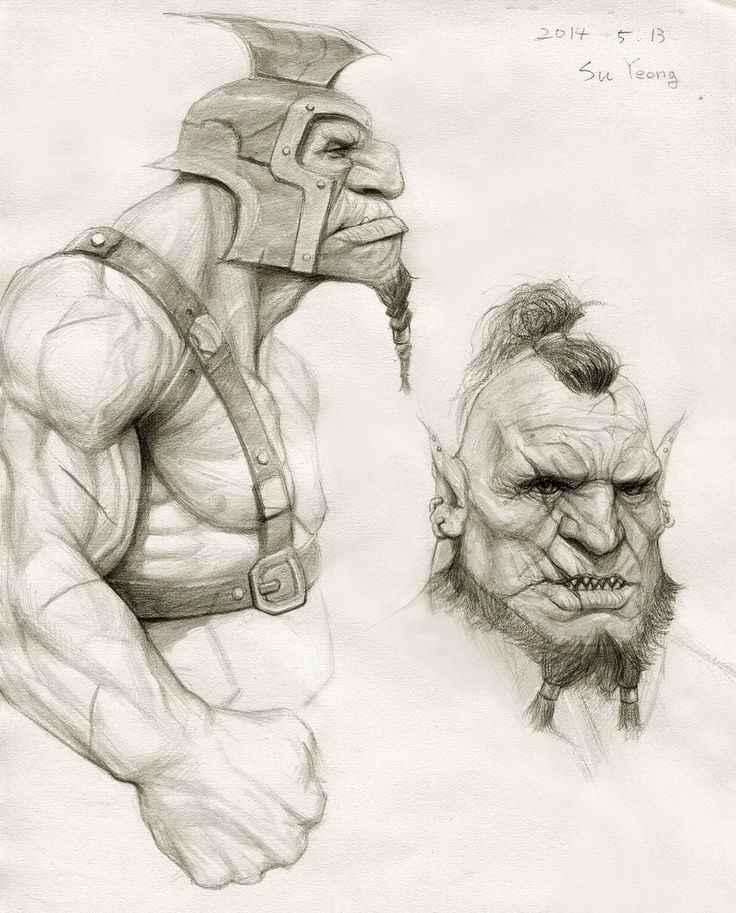Drawn orc sketch On Orc images on Orge
