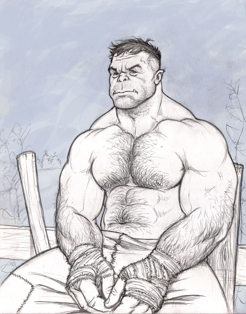 Drawn orc sketch Uerl the NMRosario  by