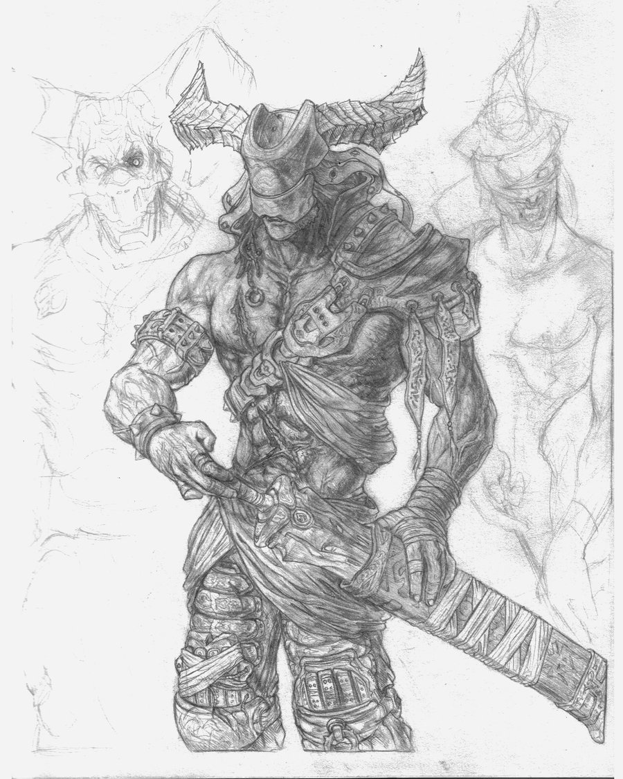 Drawn orc sketch Senjiness by on Orc sketch
