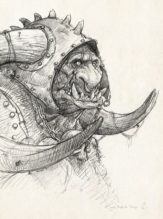 Drawn orc sketch Sketch by Trolls&Orcs&Goblins Orc Monge