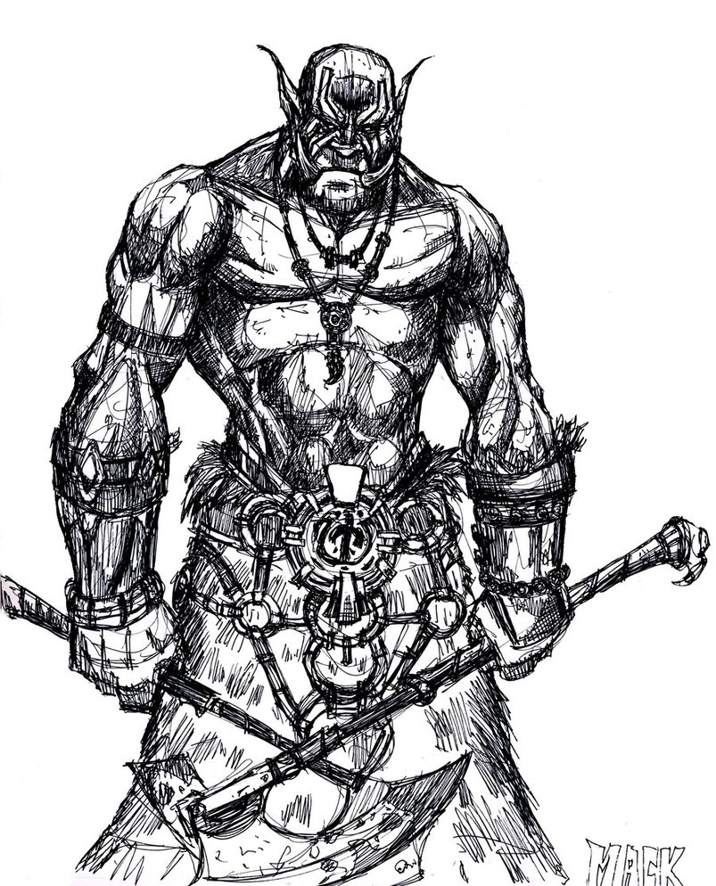 Drawn orc sketch D&D Sketch  Sketches by