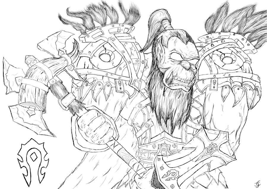 Drawn orc sketch (Sketch) (Sketch) Orc Orc DeviantArt