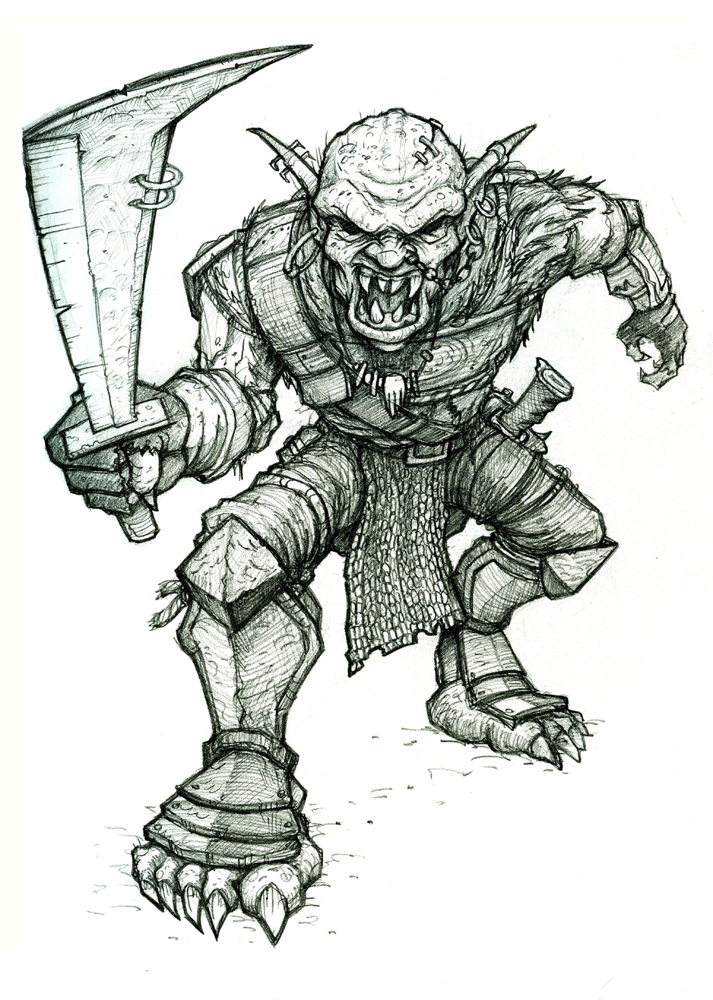 Drawn orc sketch 2 2 2 on Orc