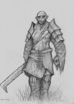 Drawn orc sketch Do i a I Orc