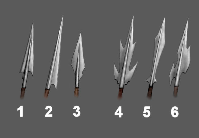 Drawn orc spear 01 javelins I heavy spears