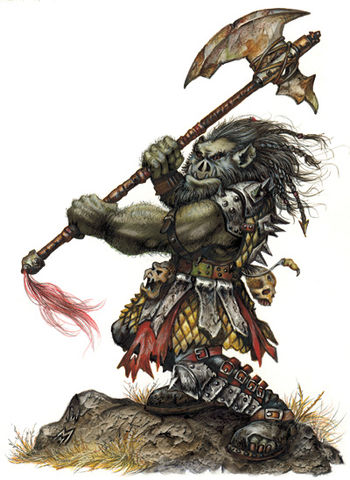 Drawn orc tanarukk Realms Orc Wikia Orc by