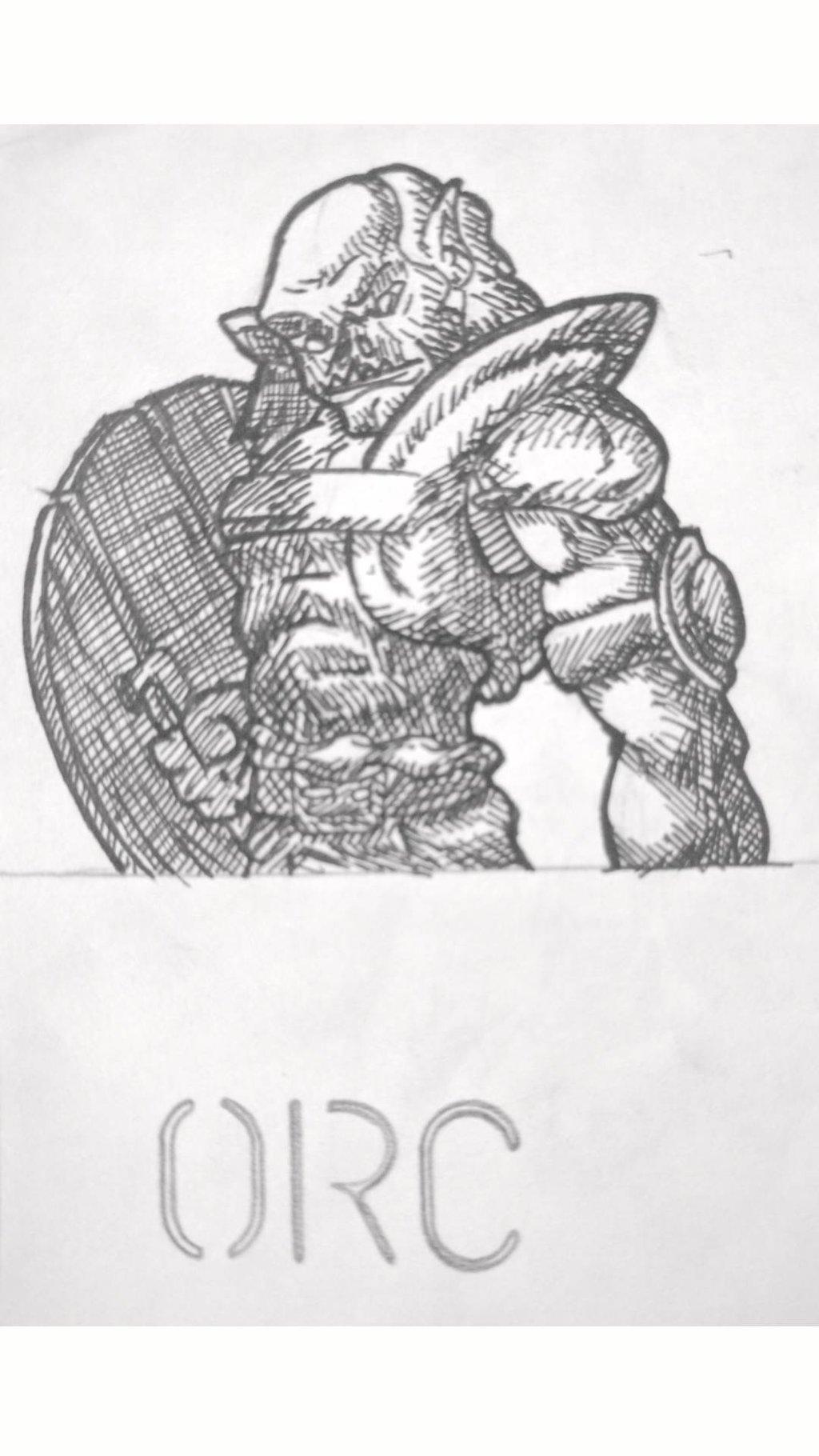 Drawn orc white DallinLemon DeviantArt by Drawn by