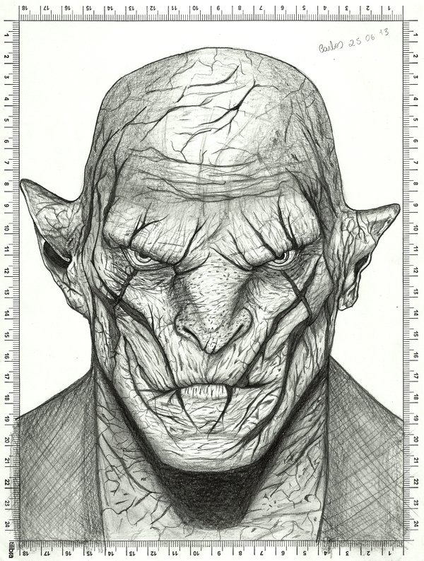 Drawn orc white By on carldraw The Hobbit