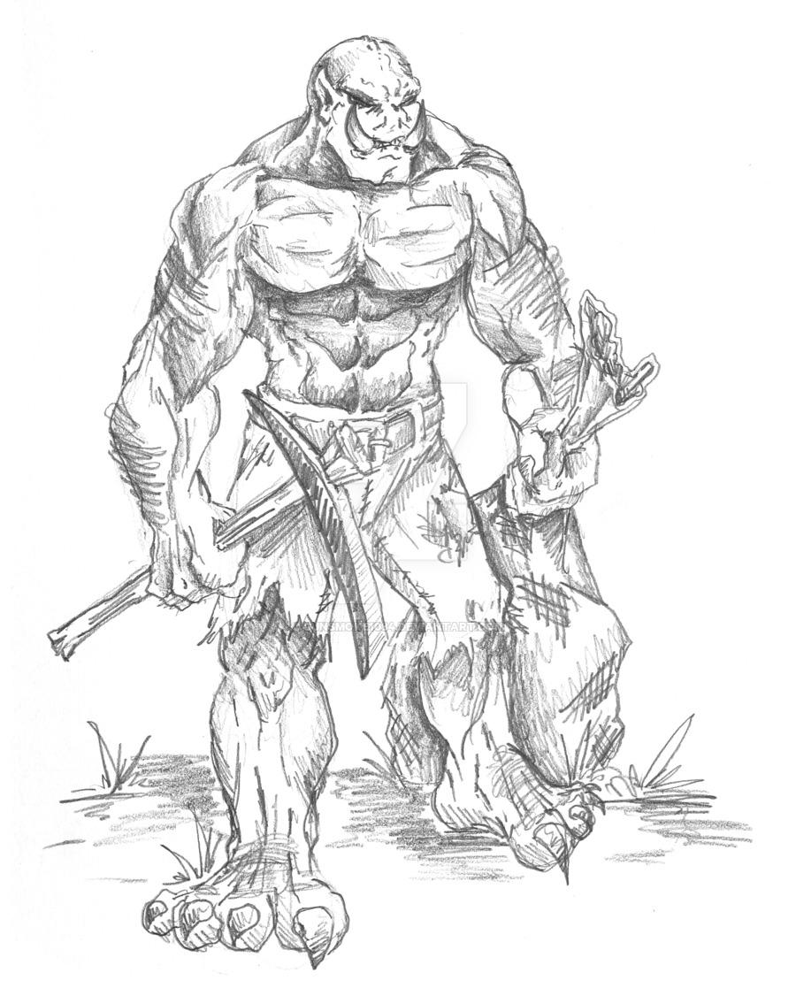 Drawn orc white DeviantArt Gunsmoke1084 Orc on 2005