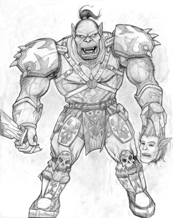 Drawn orc white Art Drawing Best Pencil Drawing