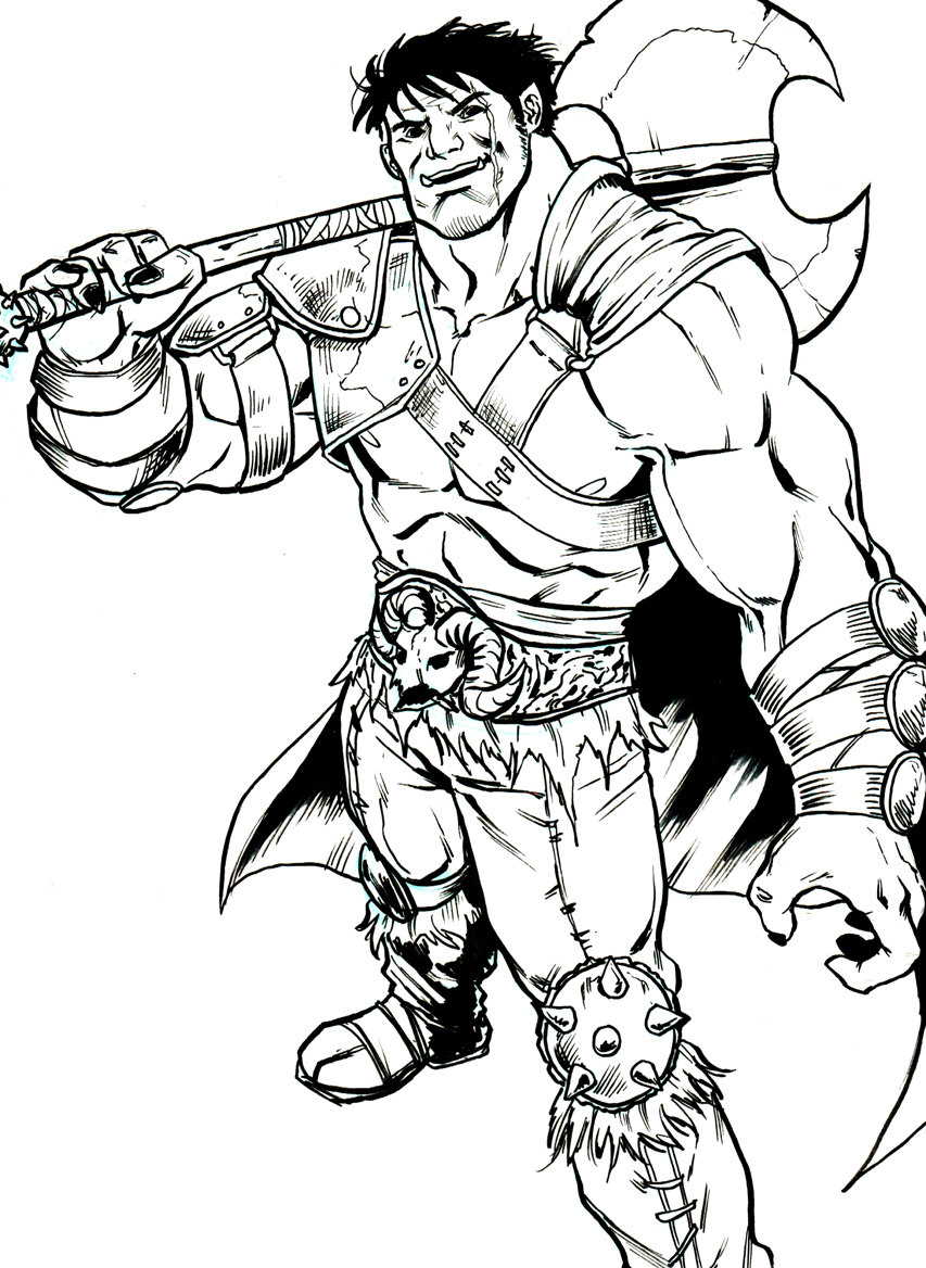 Drawn orc white New character DeviantArt Orc Brother!