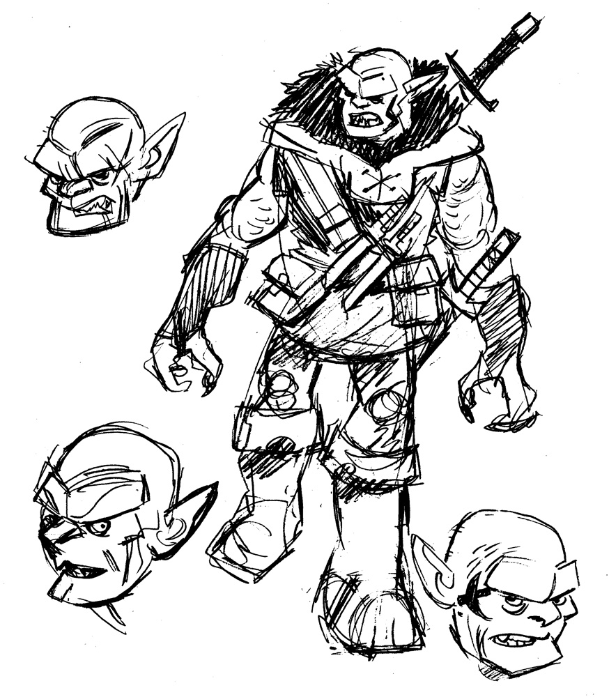 Drawn orc white Up Sketchbook: this in orc