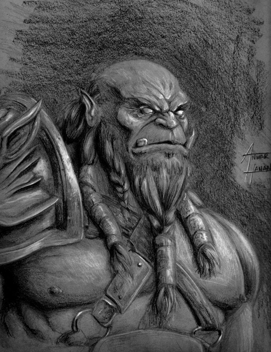 Drawn orc white  · WarriorWhite Fantasy Fantasy
