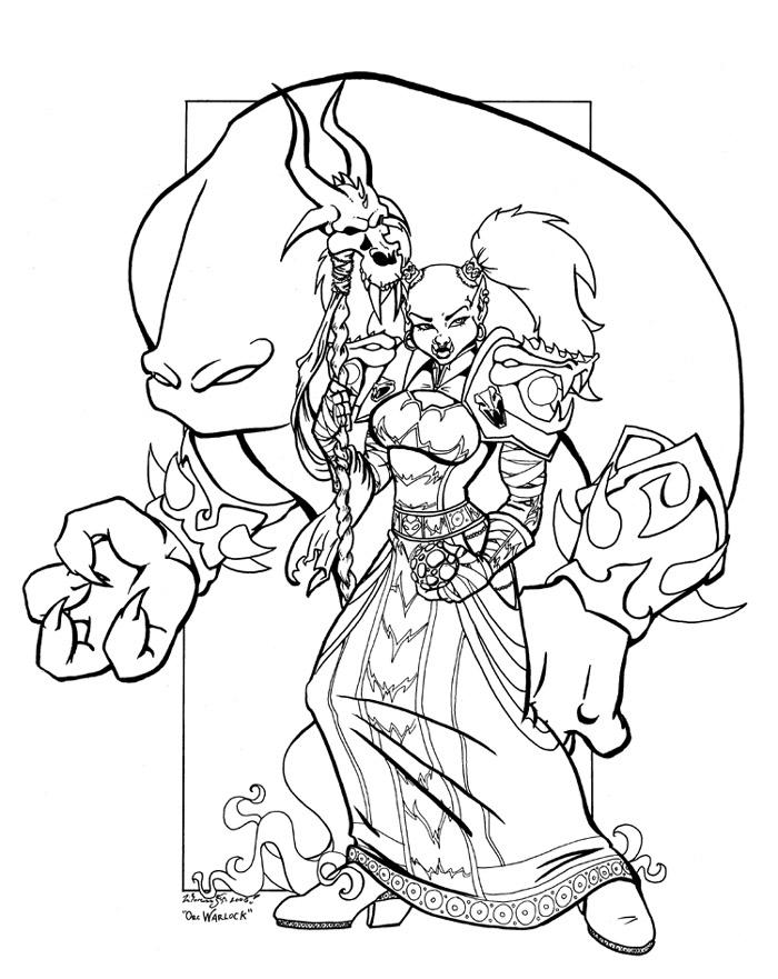 Drawn orc white Warlock by Warlock by DeviantArt