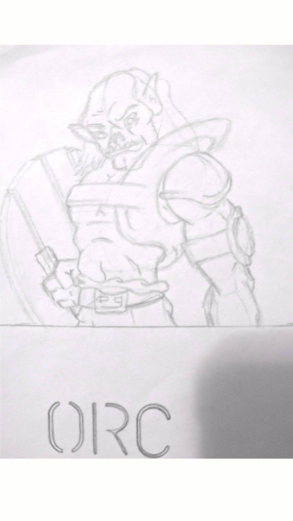Drawn orc white Linework) DallinLemon linework) Drawn (rough