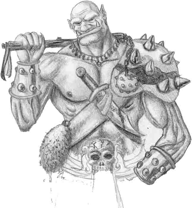 Drawn orc white / other on by Dwarfs